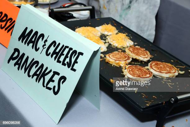 Macaroni and cheese pancakes by Shopsin's are served during Housing Works taste of home 2017 on June 14 2017 in New York City