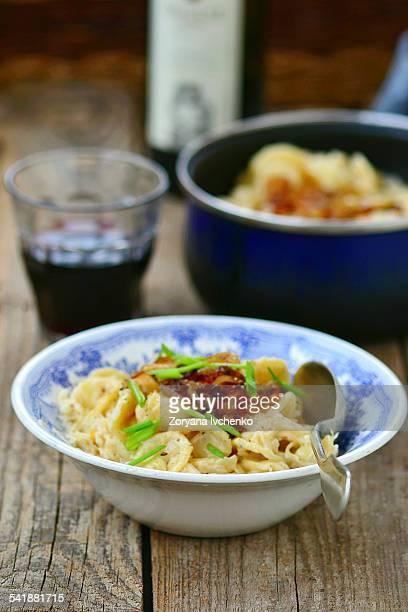 Macaroni with sauerkraut