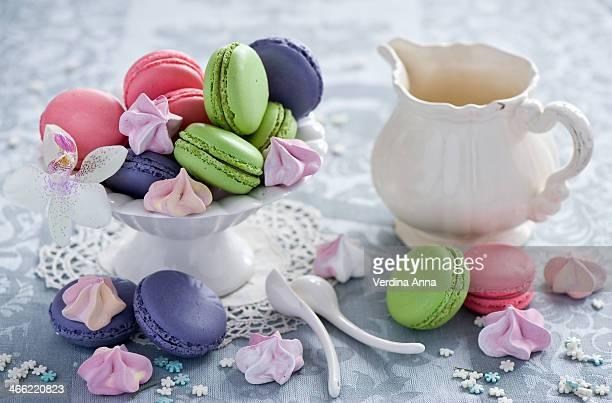 macarons - anna verdina stock photos and pictures