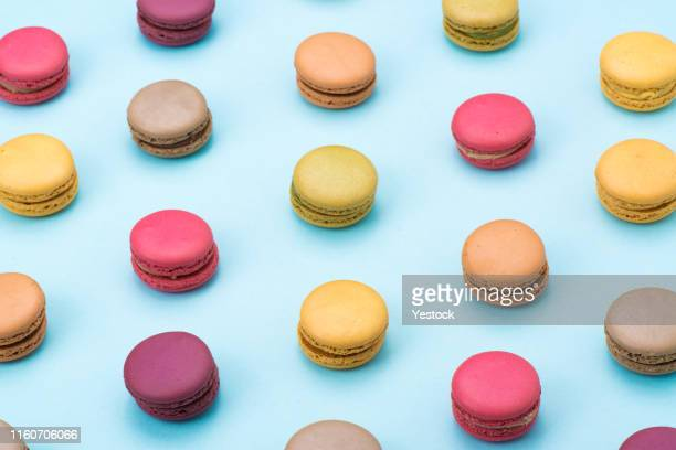 macaroon on table - french food stock pictures, royalty-free photos & images