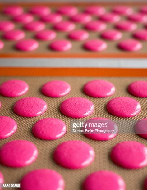 macaroons close up - samere fahim stock photos and pictures
