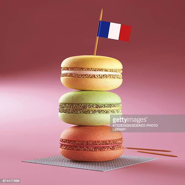 Macaroons with French flag