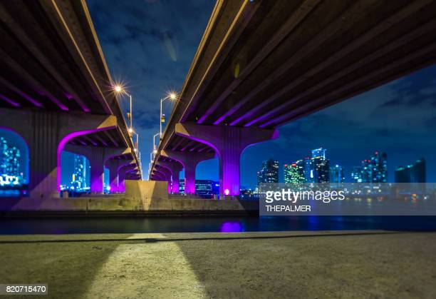 MacArthur Causeway Bridge in Miami
