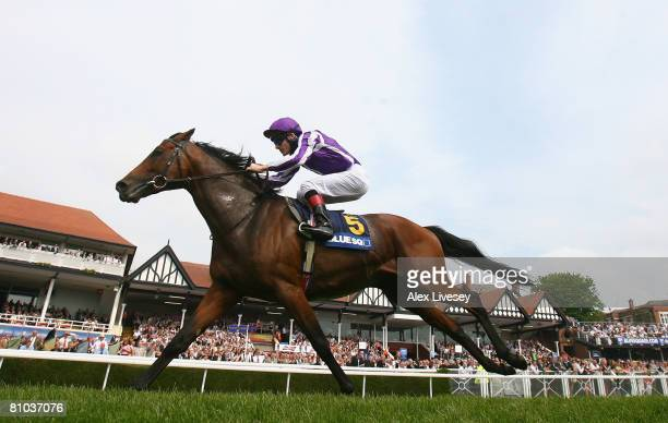 Macarthur ridden by Johnny Murtagh wins the Blue Square Ormonde Stakes held at Chester Racecourse on May 9 2008 in Chester England