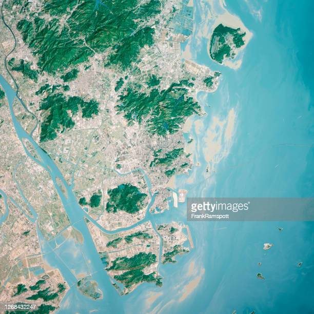 macau 3d render aerial top view from south jan 2020 - frankramspott stock pictures, royalty-free photos & images