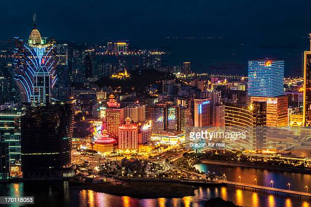 macau at night - macao stock pictures, royalty-free photos & images