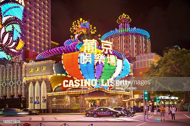 macau casino lisboa - macao stock pictures, royalty-free photos & images