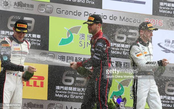 SJM Macau GT Cup - FIA GT World Cup prize presentation, from left