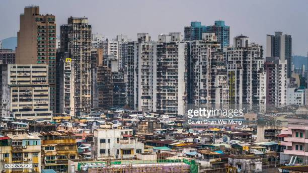 Macau housing and buildings stand in Macau, China