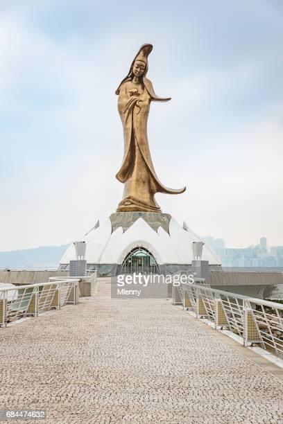 macau kun iam goddess of mercy statue macau china - guanyin bodhisattva stock pictures, royalty-free photos & images