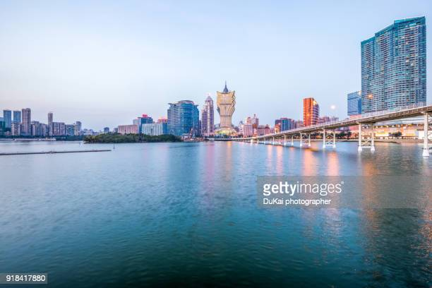 macau night - macao stock pictures, royalty-free photos & images