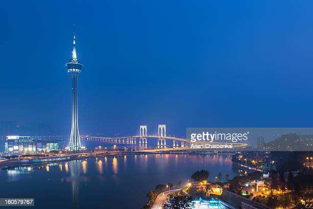 CONTENT] Macau tower is the symbol of Macau in present day This photo is taken from Penha church