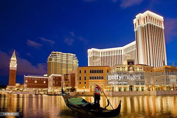 macau venetian gondola - macao stock pictures, royalty-free photos & images
