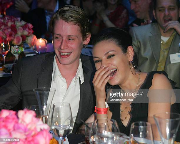 Macaulay Culkin and girlfriend Mila Kunis during Ubid.com Joins Forces with Hollywood Stars to Launch Celebrity Auction to Benefit Hurricane Victims...