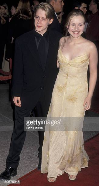 Macaulay Culkin and Rachel Miner attend the premiere of 'The Mighty' on October 7 1998 at the Cineplex Odeon Cinema in Century City California