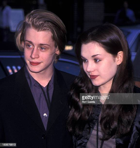 Macaulay Culkin and Rachel Miner attend the premiere party for 'Star Wars Episode I The Phantom Menace' on May 16 1999 at Mars 2112 in New York City