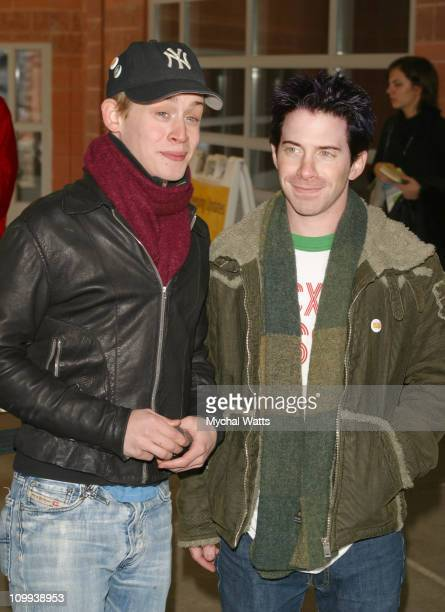 Macaulay Culkin and Seth Green during 2003 Sundance Film Festival Party Monster Premiere at Eccles in Park City Utah United States