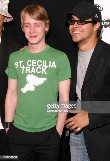 Macaulay Culkin and Wilmer Valderrama during The Opening Night Gala of Outfest featuring Party Monster at Orpheum Theatre in Hollywood, CA, United...