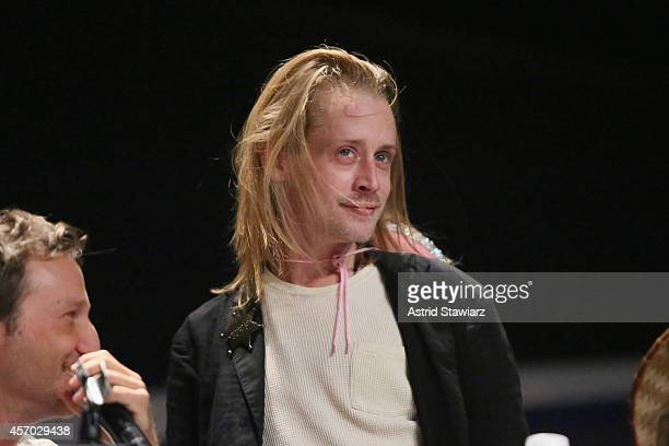 Macaulay Culkin attends The Adult Swim RobotChicken Panel At New York Comic Con 2014 at Jacob Javitz Center on October 10 2014 in New York City...