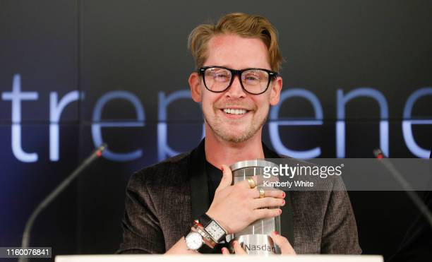 Macaulay Culkin, co-founder of lifestyle media Bunny Ears, is the honorary bell ringers of the Nasdaq Closing Bell from the Nasdaq Entrepreneurial...