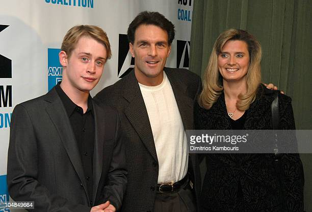 Macaulay Culkin Doug Flutie and guest during 'Night of Too Many Stars' Evening to Benefit The Autism Coalition at Roseland Ballroom in New York City...