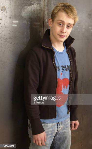 Macaulay Culkin during 2003 Sundance Film Festival 'Party Monster' Portraits at Yahoo Movies Portrait Studio in Park City Utah United States