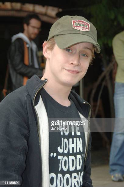 Macaulay Culkin during MTV's 'TRL' at Skywalker Ranch for 'Star Wars III Revenge of the Sith' Screening at Skywalker Ranch in Nicosia California...