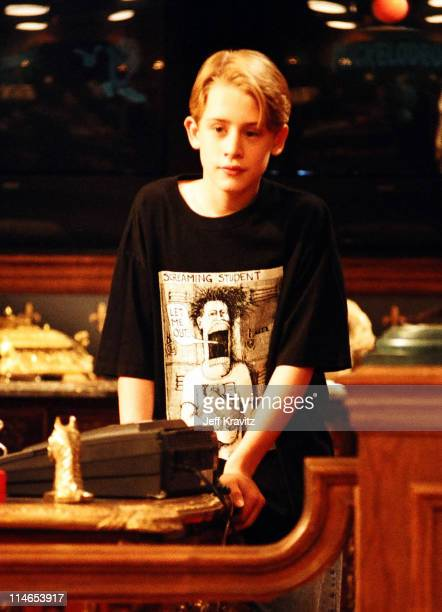 Macaulay Culkin during Nickelodeon and Macaulay Culkin on the set of Richie Rich in Los Angeles CA United States