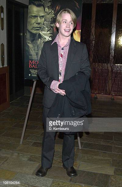 Macaulay Culkin during Producer Lee Daniels Hosts A Special Screening Of 'Monsters Ball' At The Tribeca Grand Hotel's Grand Screen at Tribeca Grand...