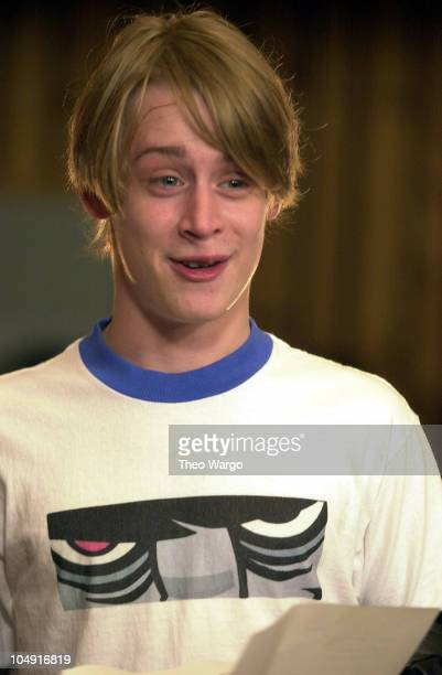 Macaulay Culkin during 'We Are Family' Recording to Benefit WTC Disaster Relief September 22 2001 in New York City New York United States