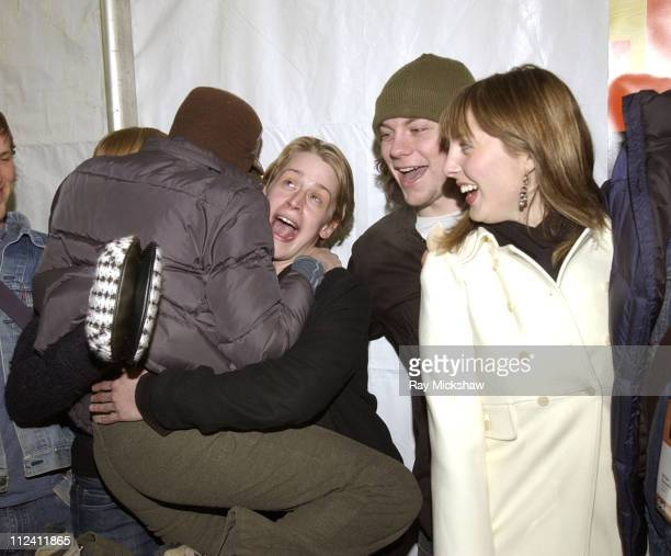 Macaulay Culkin Patrick Fugit and Eva Amurri during 2004 Sundance Film Festival 'Saved' Premiere at Eccles in Park City Utah United States