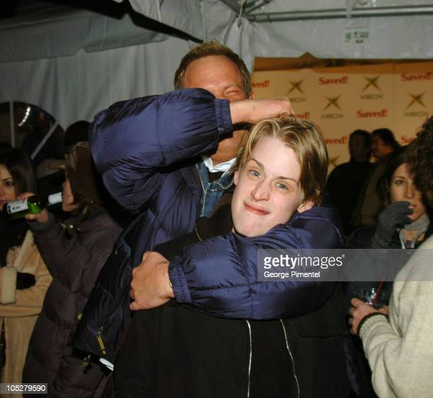 Macaulay Culkin with director Brian Dannelly during 2004 Park City Xbox Hosts 'Saved' AfterParty at 1167 Woodside Ave in Park City Utah United States
