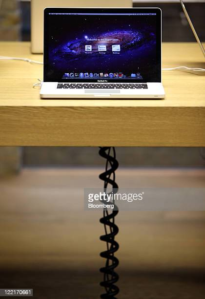 A Macbook Pro laptop computer sits on display at Apple Inc's Covent Garden store in London UK on Friday Aug 26 2011 Without Steve Jobs Apple Inc may...