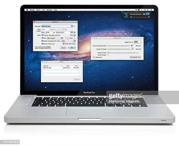 A MacBook Pro laptop in pester mode Bath August 12 2011