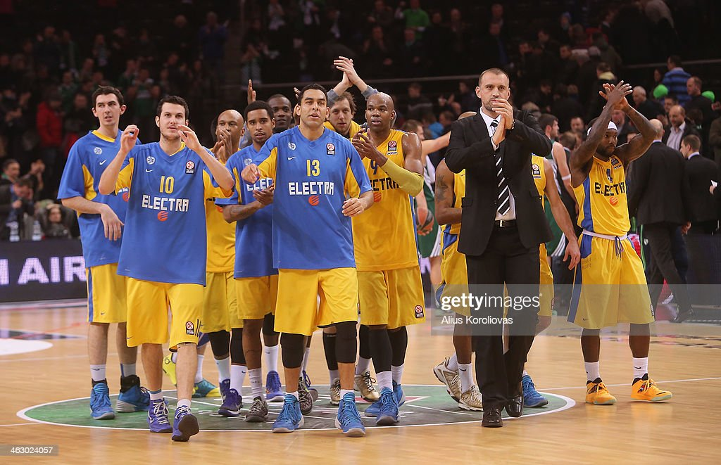 Zalgiris Kaunas v Maccabi Electra Tel Aviv- Turkish Airlines Euroleague Top 16 : News Photo
