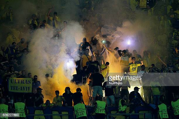 Maccabi Tel Aviv's fans during the UEFA Champions League match between FC Porto and Maccabi Tel-Aviv FC, at Dragão Stadium in Porto on October 20,...