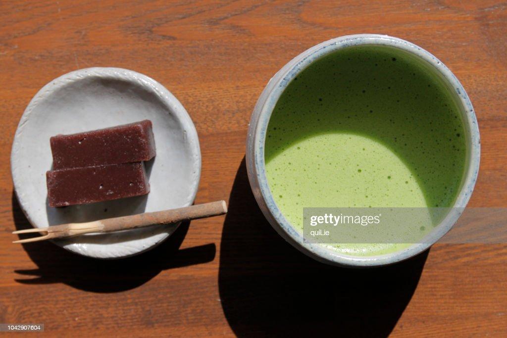 Maccha and japanese sweets : ストックフォト