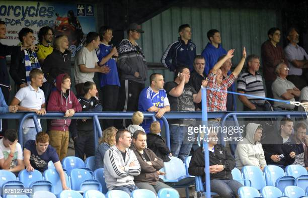 Macclesfield Town fans in the stands