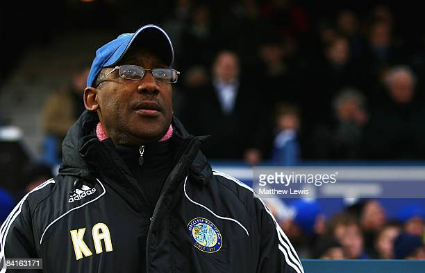 Macclesfield Town Manager Keith Alexander looks on ahead of the FA Cup sponsored by Eon 3rd Round match between Macclesfield Town and Everton at Moss...
