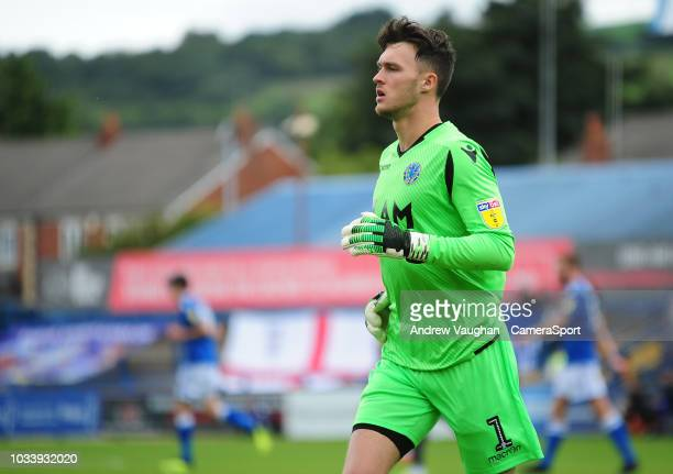 Macclesfield Town's Kieran O'Hara during the Sky Bet League Two match between Macclesfield Town and Lincoln City at Moss Rose Ground on September 15...