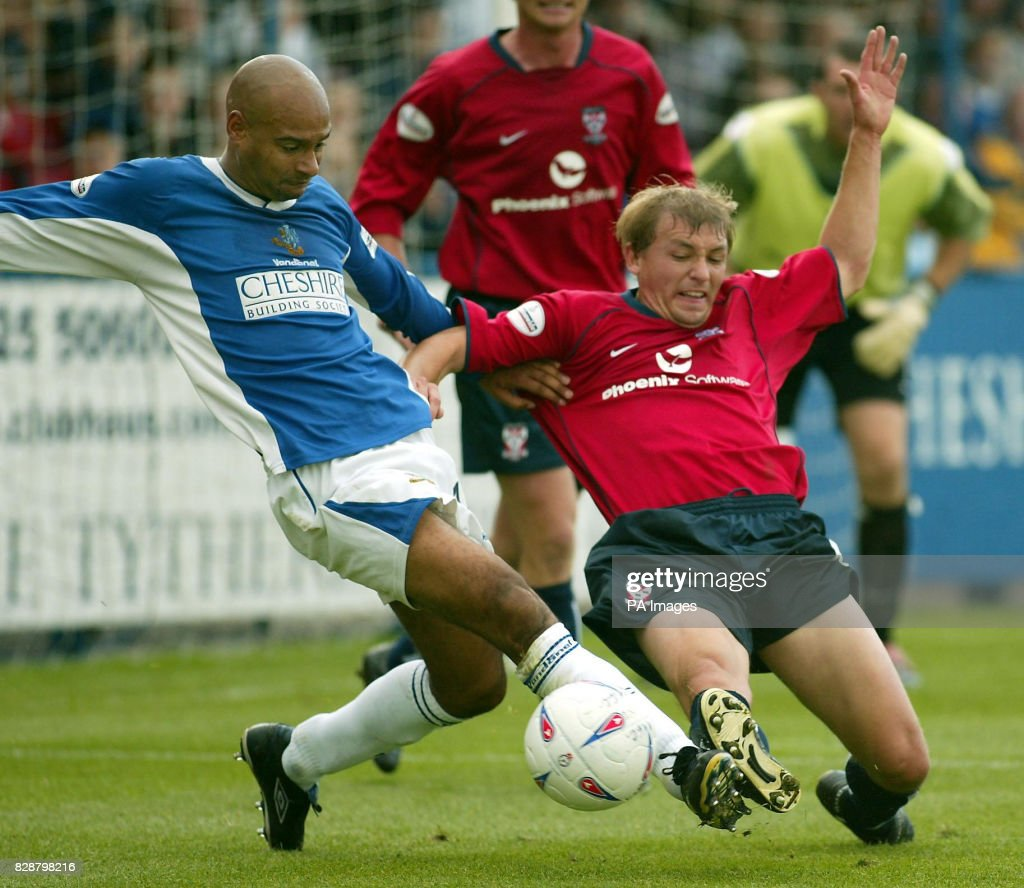 Macclesfield S Martin Carruthers Tussles With York City S Richard