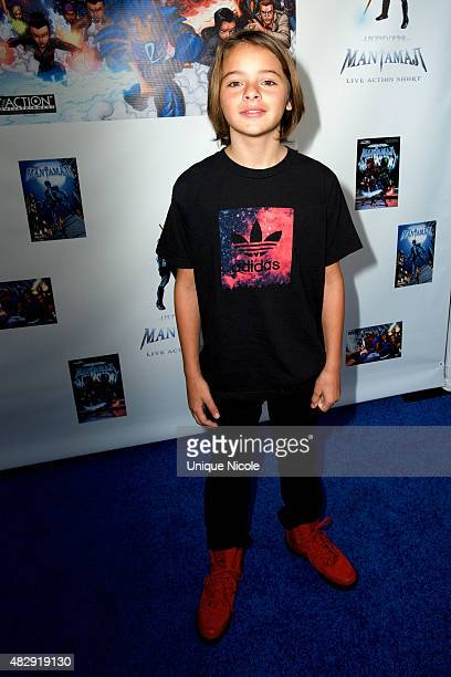 Mace Coronel attends Premiere Of 'Legend Of The Mantamaji' at Harmony Gold on August 3 2015 in Los Angeles California