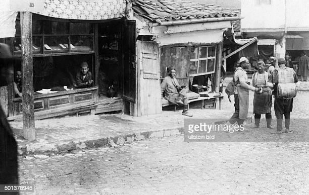 commercial street in Skopje April 1916