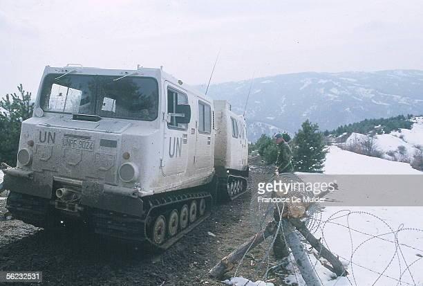 Macedonia . Vehicle of the U.N. At the border of the Kosovo, 1993. FDM-2089-10.