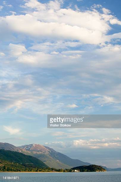 MACEDONIA-Ohrid: Lake Ohrid and mountains / Late Afternoon