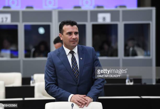 Macedonia's Prime Minister Zoran Zaev attends the EUWestern Balkans Summit in Sofia on May 17 2018 European Union leaders meet their Balkan...
