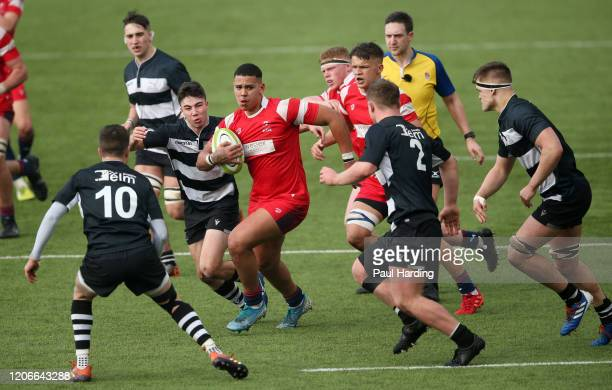 Macenzie Duncan of Bristol Bears during the Newcastle Falcons v Bristol Bears fifth sixth place playoff match at Sixways Stadium on February 16 2020...