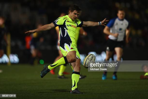 Macginty of Sale during the Aviva Premiership match between Worcester Warriors and Sale Sharks at Sixways Stadium on December 1 2017 in Worcester...