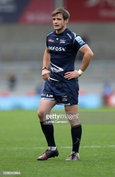 MacGinty of Sale Sharks during the Gallagher Premiership Rugby match between Sale Sharks and Wasps at AJ Bell Stadium on September 22 2018 in Salford...