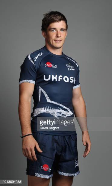 MacGinty poses for a portrait during the Sale Sharks squad photo call for the 201819 Gallagher Premiership Rugby season at AJ Bell Stadium on August...